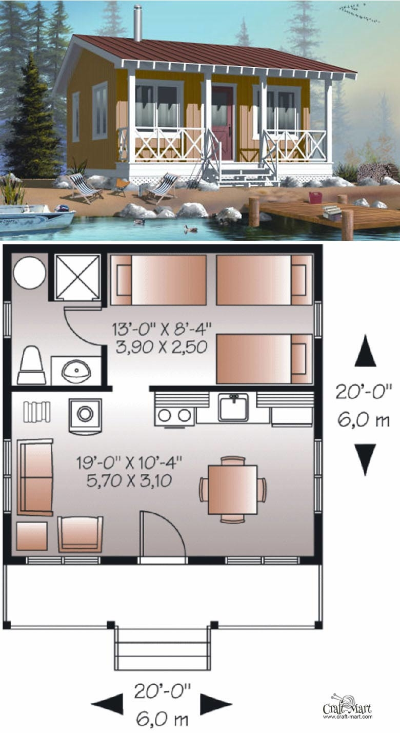A sample from the book Tiny House Floor Plans