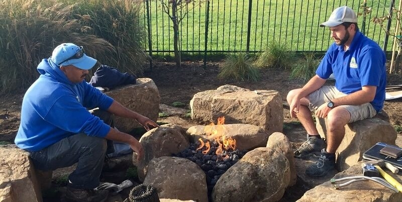 Fire features are an excellent way to bring your family and guests together in your outdoor living space
