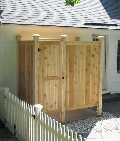 com : Nantucket Camping, Pool, Wooden, Wood Outdoor Shower : Sports & Outdoors
