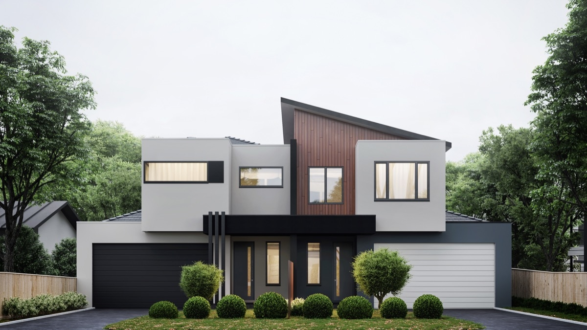 Interior Contemporary House Colors With Grey And White Color Also Excerpt Exterior