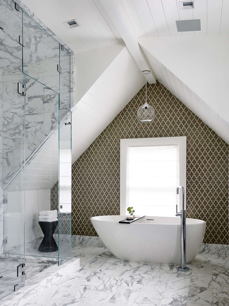 Finish setting the shower floor