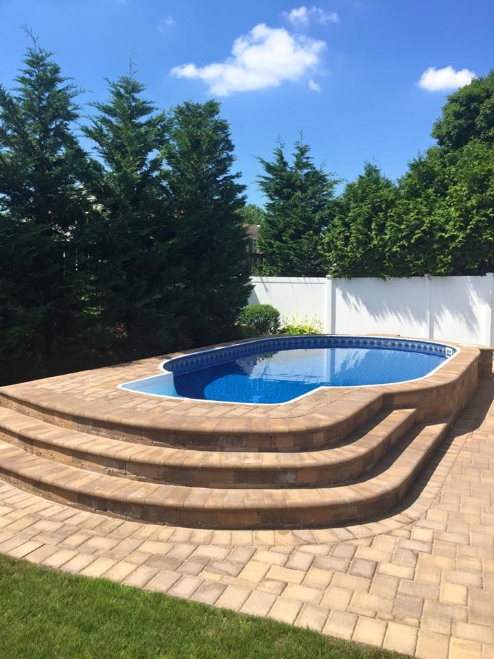 large above ground pool