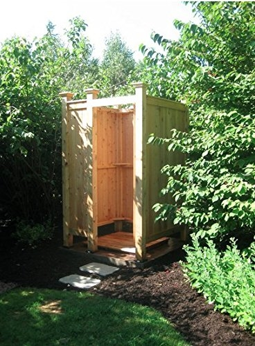 An outdoor shower tucked behind a screen off the master bedroom neutralizes this threat
