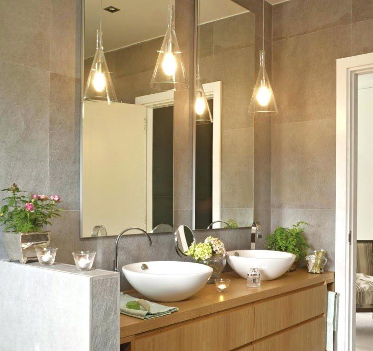 Also love the sink! | Brighten Up Your Bath: 8 Super Stylish Lighting Ideas