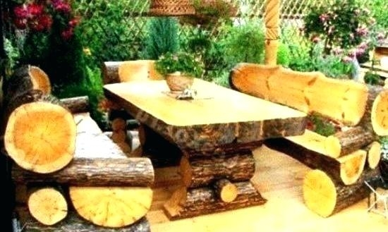 outdoor cabin patio furniture log living room chairs style remarkable