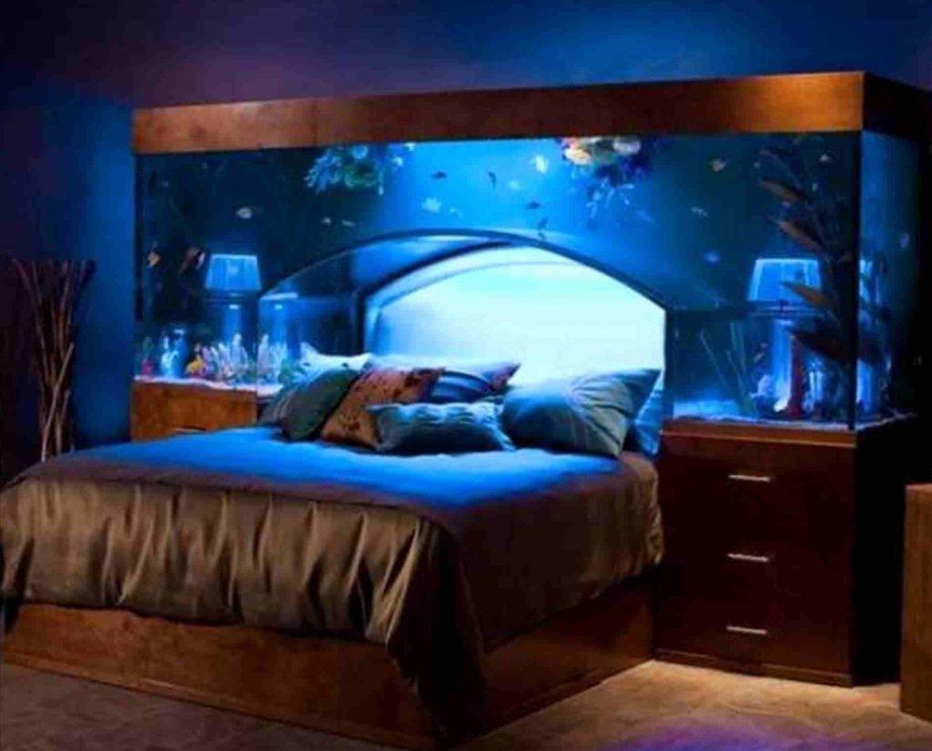 fish aquarium furniture tank bedroom wall tanks ideas