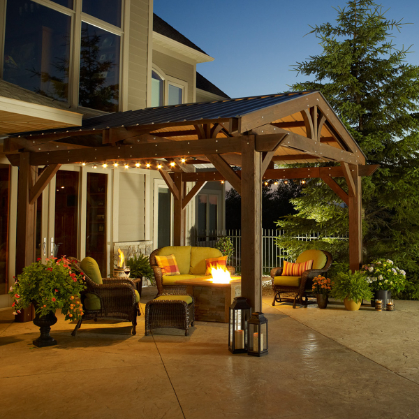 Simple Outdoor Living Design with Pergola | Download Plan –  MyPatioDesign