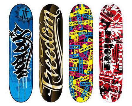 Skateboard designs; Skateboard designs