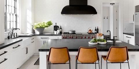 black kitchen cabinets small