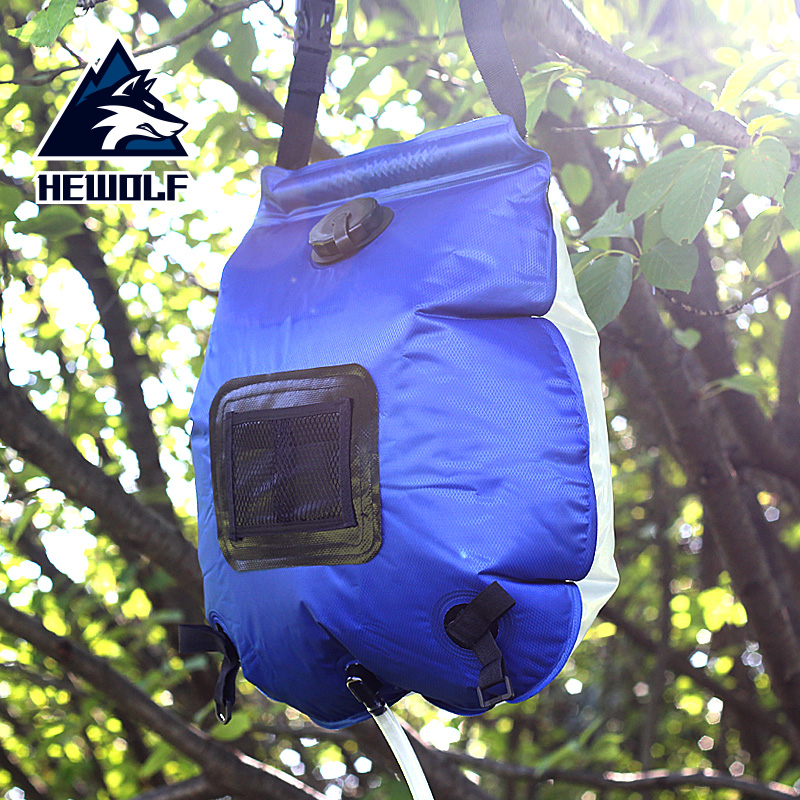Aotu Outdoor Shower Water Bag Portable 20L Solar  Heated Bathing Pocket