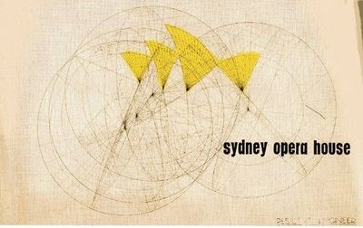Concept design for proposed racing ads on the sails of the Sydney Opera  House