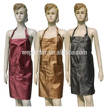 LV Design Black Apron for Hair Salon or Spa