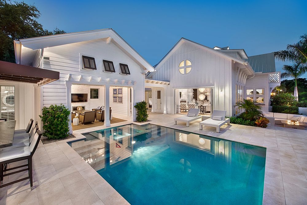 Make sure the style of the pool house matches that of the main  residence [From