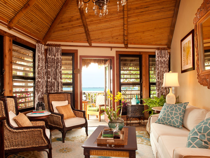 GoldenEye is not an ordinary hotel, but a collection of private villas,  cottages and beach huts