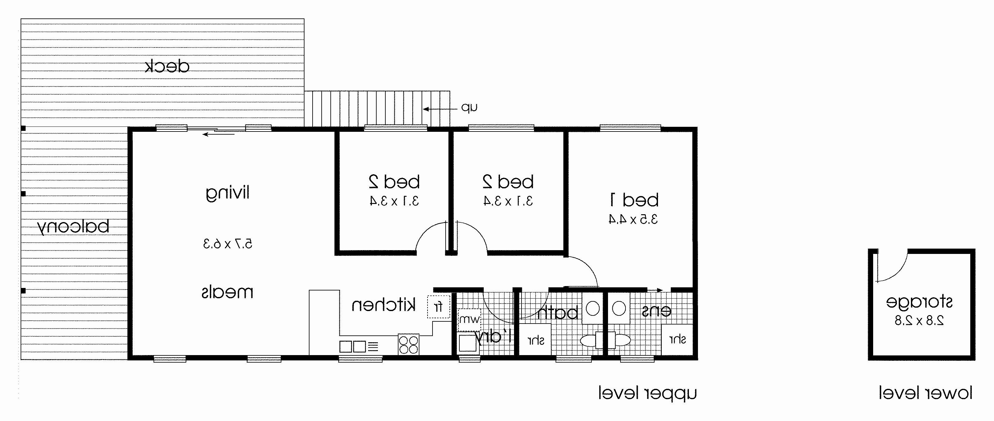 1100 SF House Plan