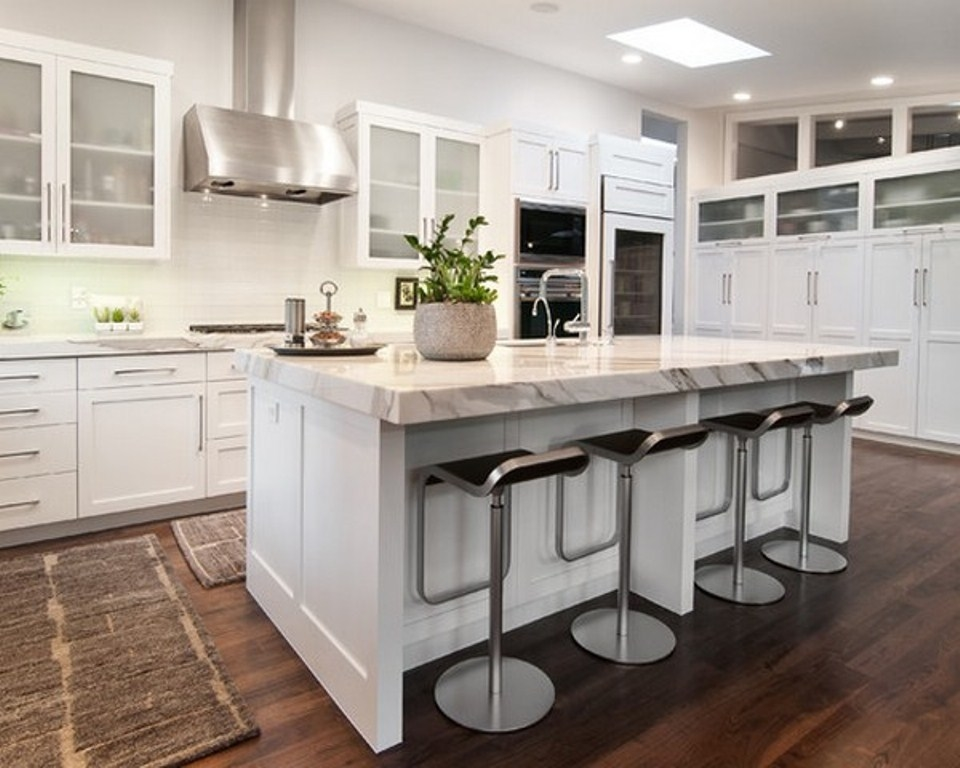 Make sure you have enough room to work around the tiny kitchen island [ Design: