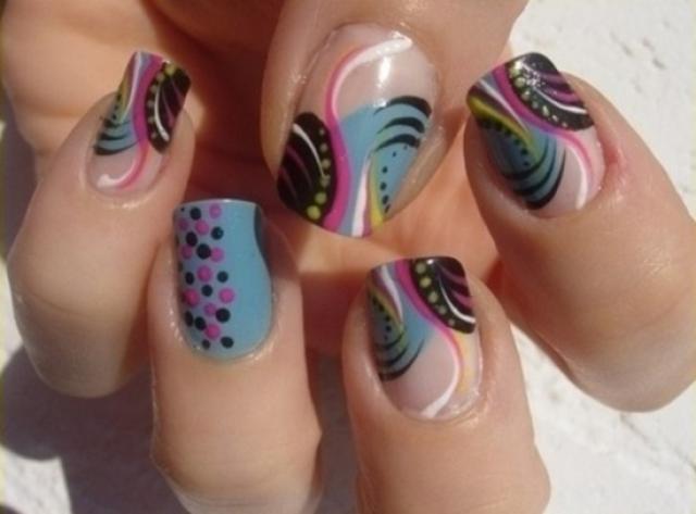 200 00 extensi n de acrilico franc s con gel polish Funky Nail Designs Nail Art