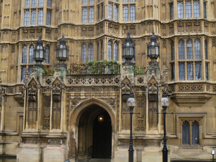 Portcullis House, an overflow building for most MPs in the Houses of Parliament