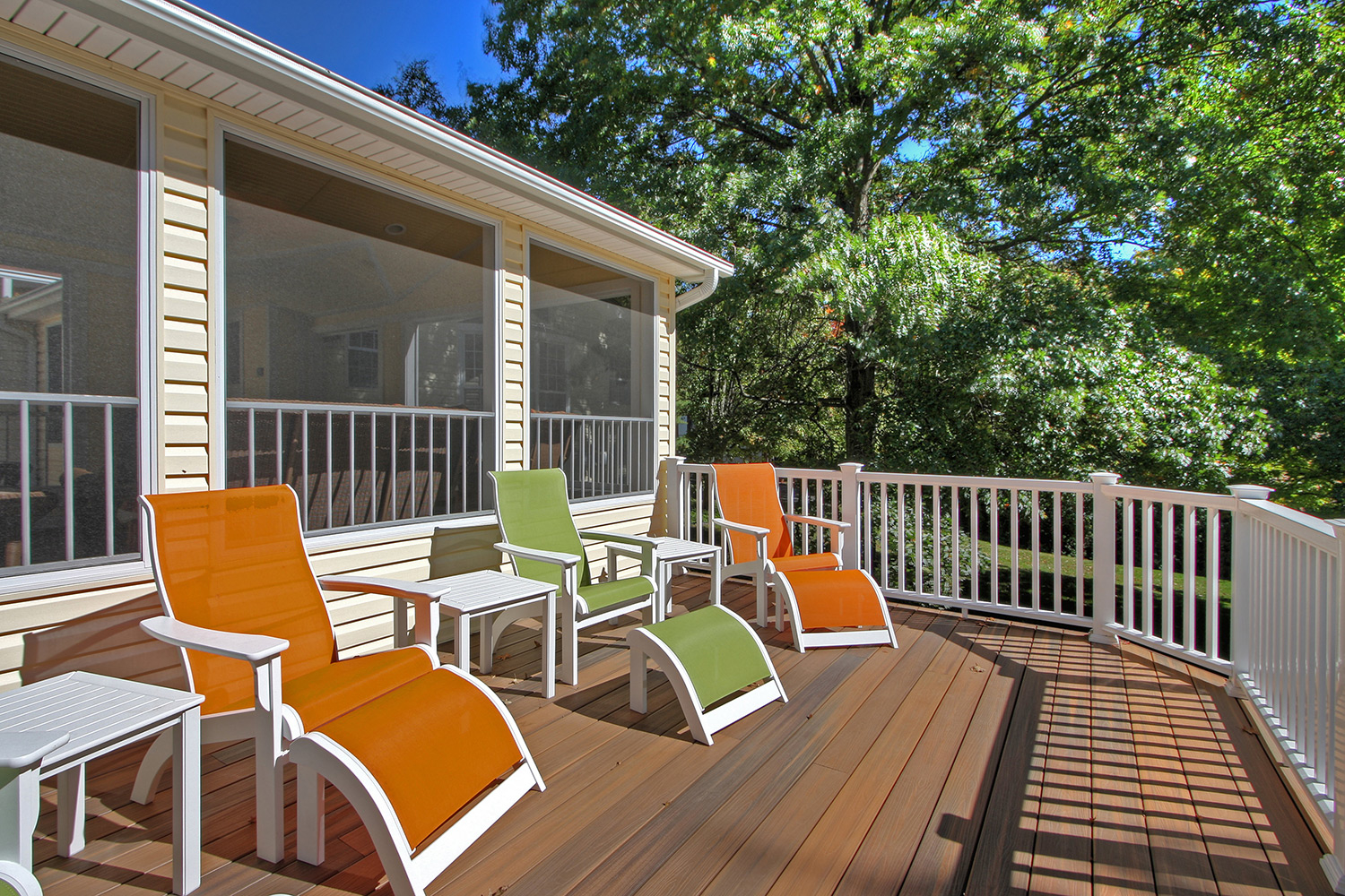 Beautiful stone deck with gorgeous view! 17 Bonhomme Grove Court,  Chesterfield, MO 63017