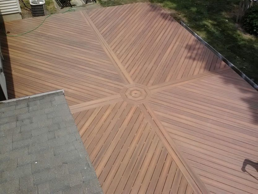 Deck with Diagonal Design by Archadeck, St