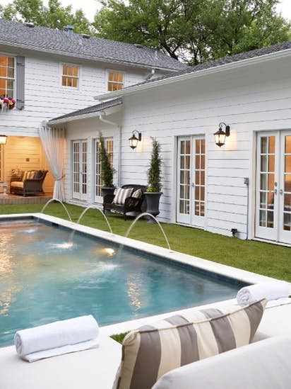 An outdoor spa – also known as a hot tub or jacuzzi – is