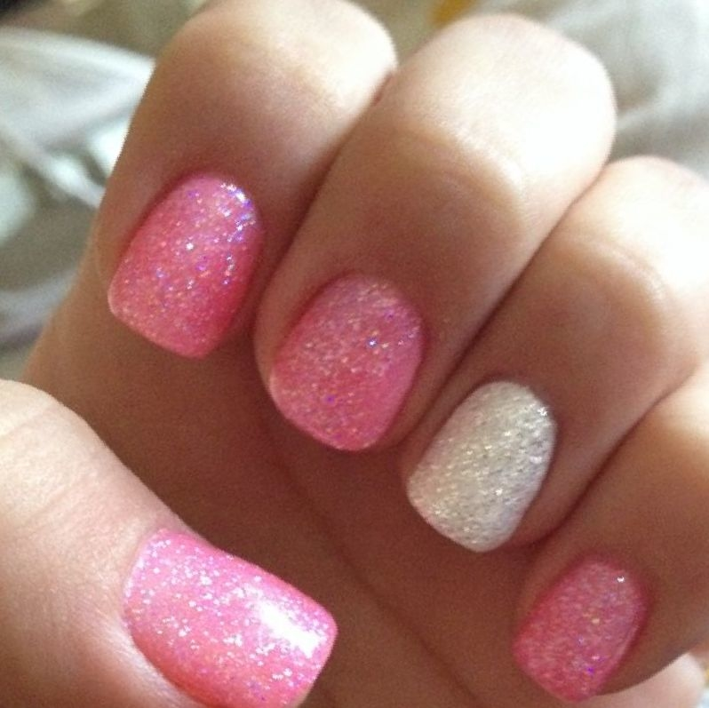 Pink Gel Polish Nail design,Nails at home