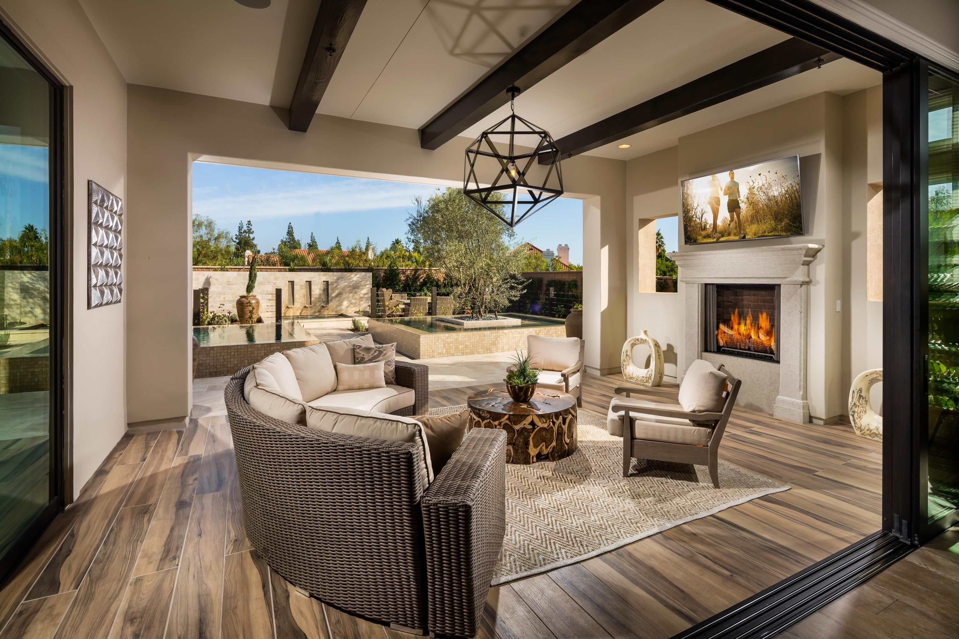 At John's home in Chatsworth, CA you will enjoy the spacious outdoor  living area created