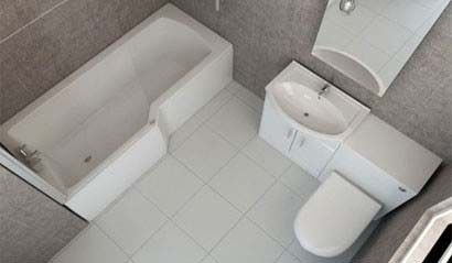 l shaped  shower
