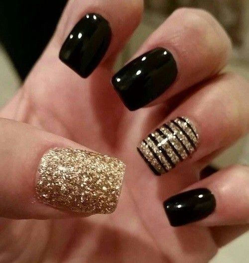 Nail Art Pretty Gel Manicure Designs That Make You Wanna Do Your Nails Asap  Rose Gold Black And French Styles Tip Ideas Summer Cute Top Design Pictures
