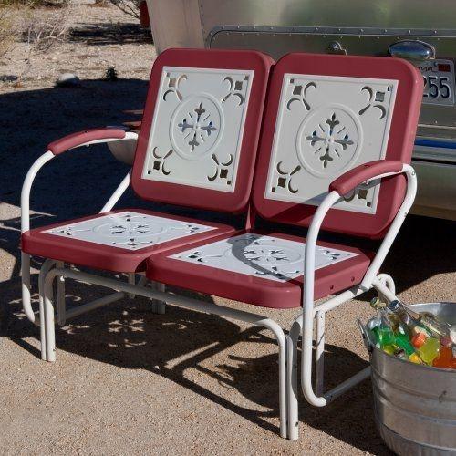 retro outdoor glider vintage porch three