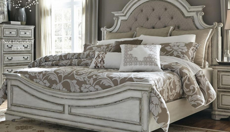 wood and iron bed