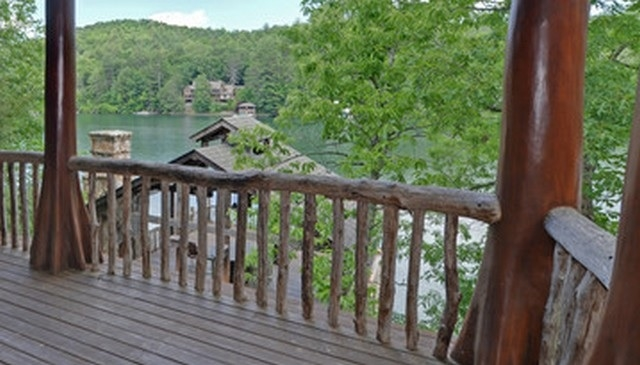 These are more deck railing ideas that includes cattle or hog paneling