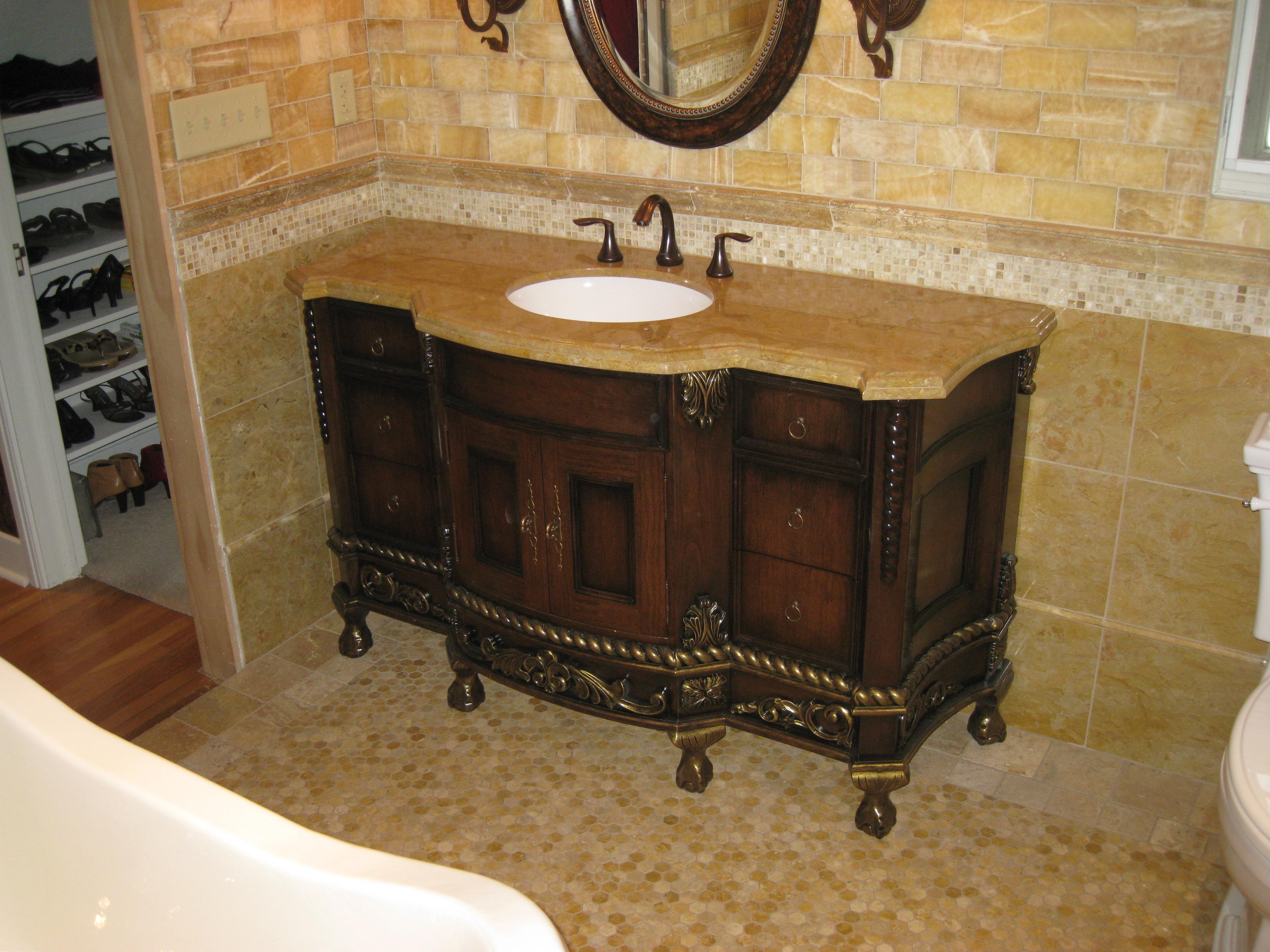 1141 × 1024 in 125 Best Farmhouse Bathroom Vanity Remodel Ideas