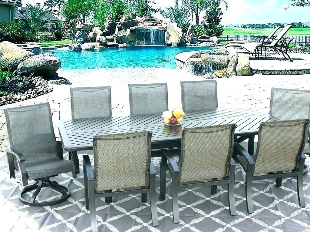 8 person patio table 8 person table and chairs round 8 person square dining table  set
