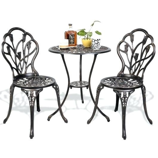 Domi Outdoor Living Patio Furniture Dining Set 4 Piece Cast Aluminum Patio  Furniture Conversation Set with Cushions and Coffee Table Antique Bronze  *** You