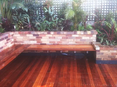 Photo of a contemporary deck in Sydney with no cover
