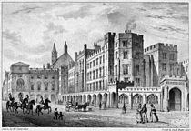 A great fire on October 16, 1834 destroyed much of the Palace including the House of Lords and the House of Commons (see pictures below) Thereafter a new
