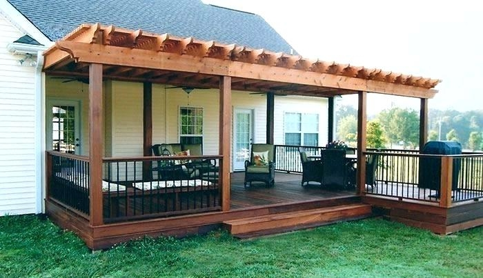 small backyard decks deck with patio ideas