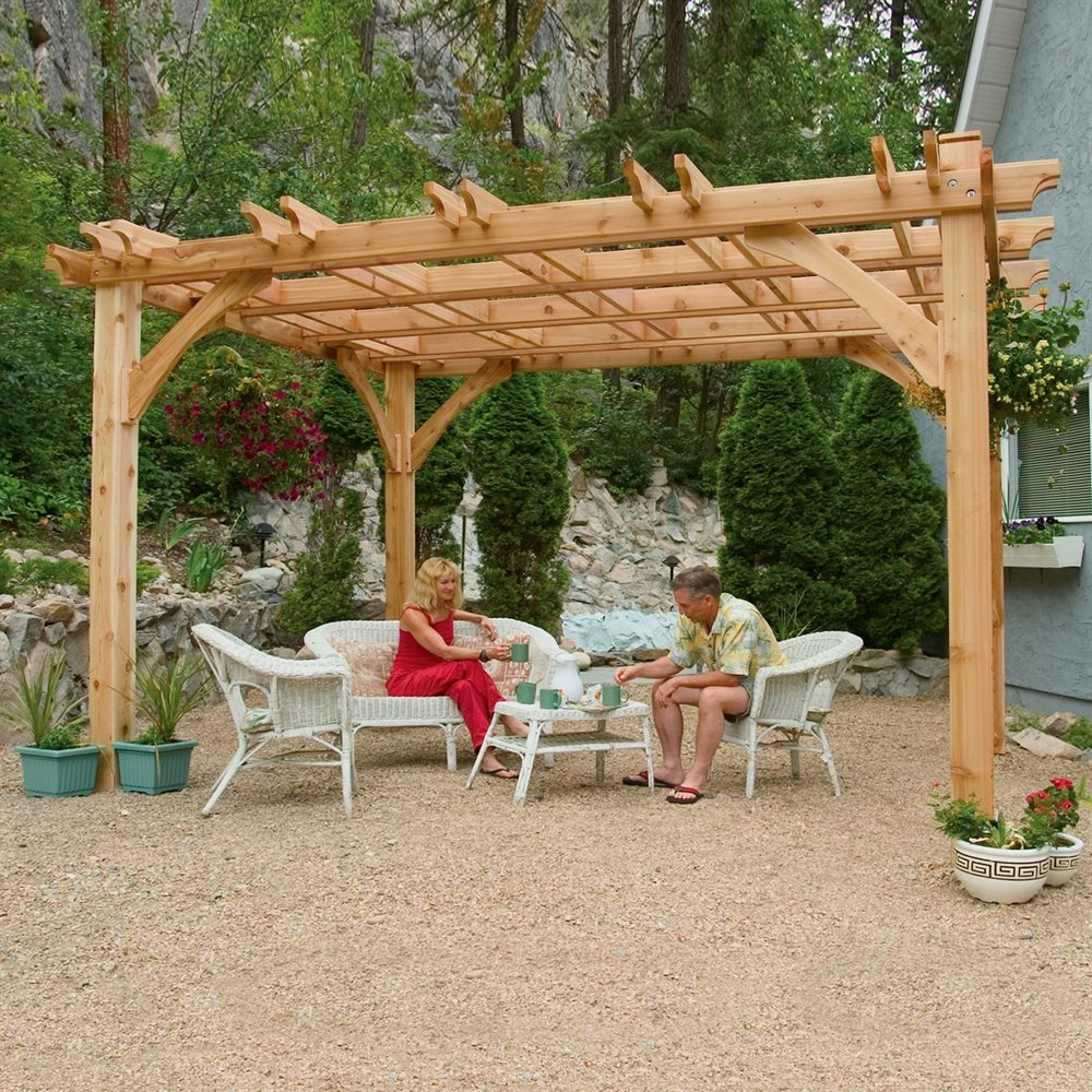 This motorized Sunair pergola is designed for larger spaces