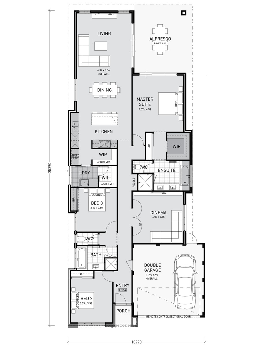 One Story Modern Home Plans