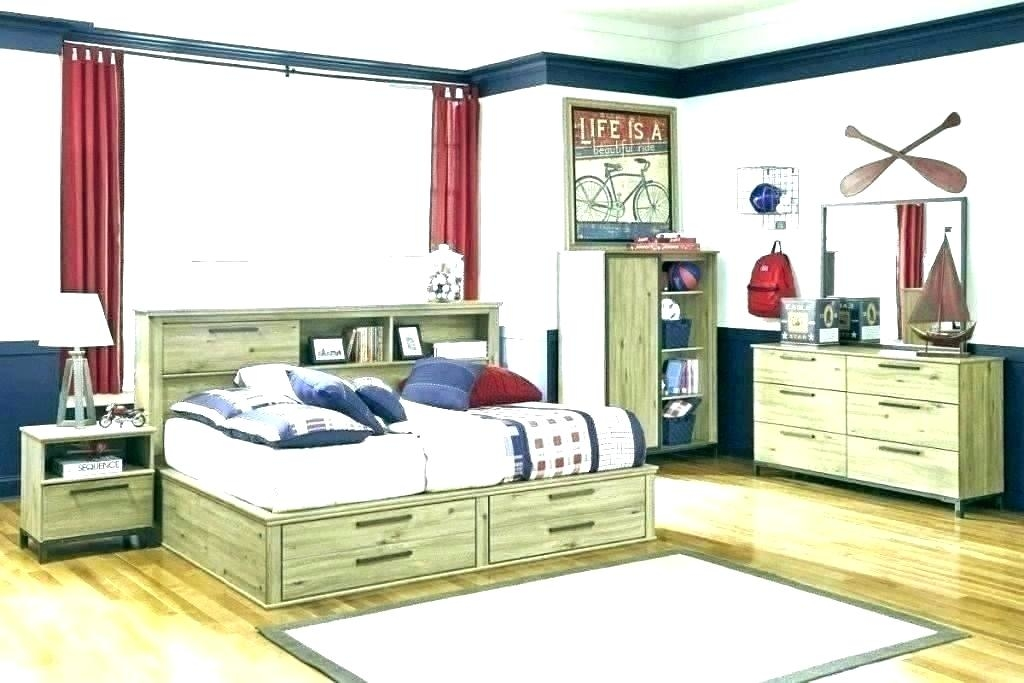 Delburne Full Bookcase Bed with Storage