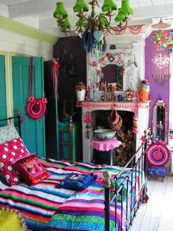 Eclectic neutral bedroom