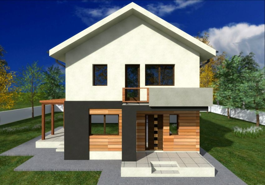 White And Brown Wall Modern 2 Storey House Designs And Plans Can Be Decor  With Small Terrace Can Add The Natural Touch Inside House Design Ideas With  Garage