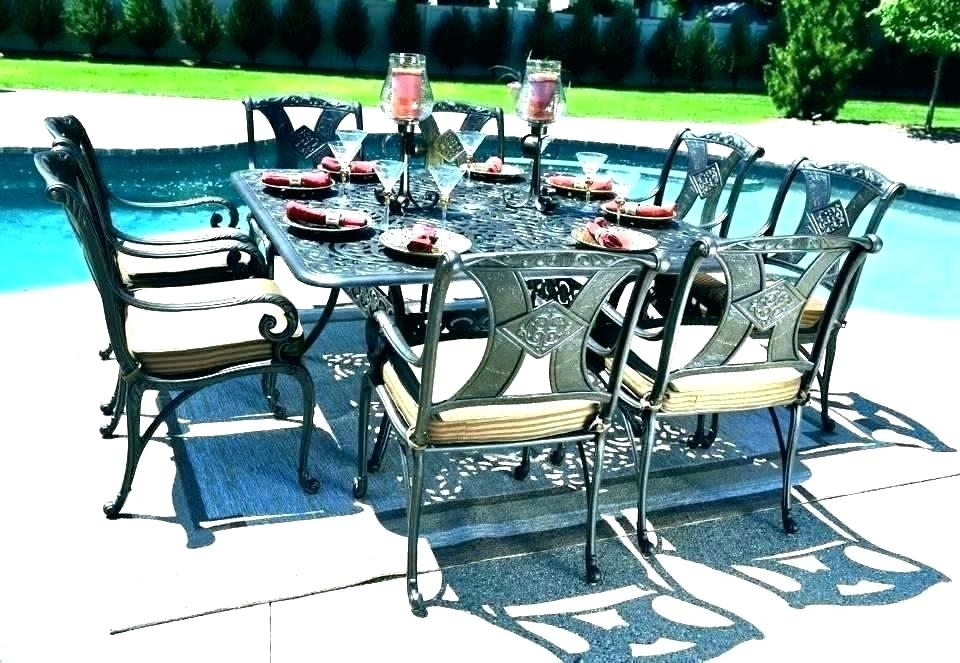 8 person patio table dining set outdoor seat canada tab