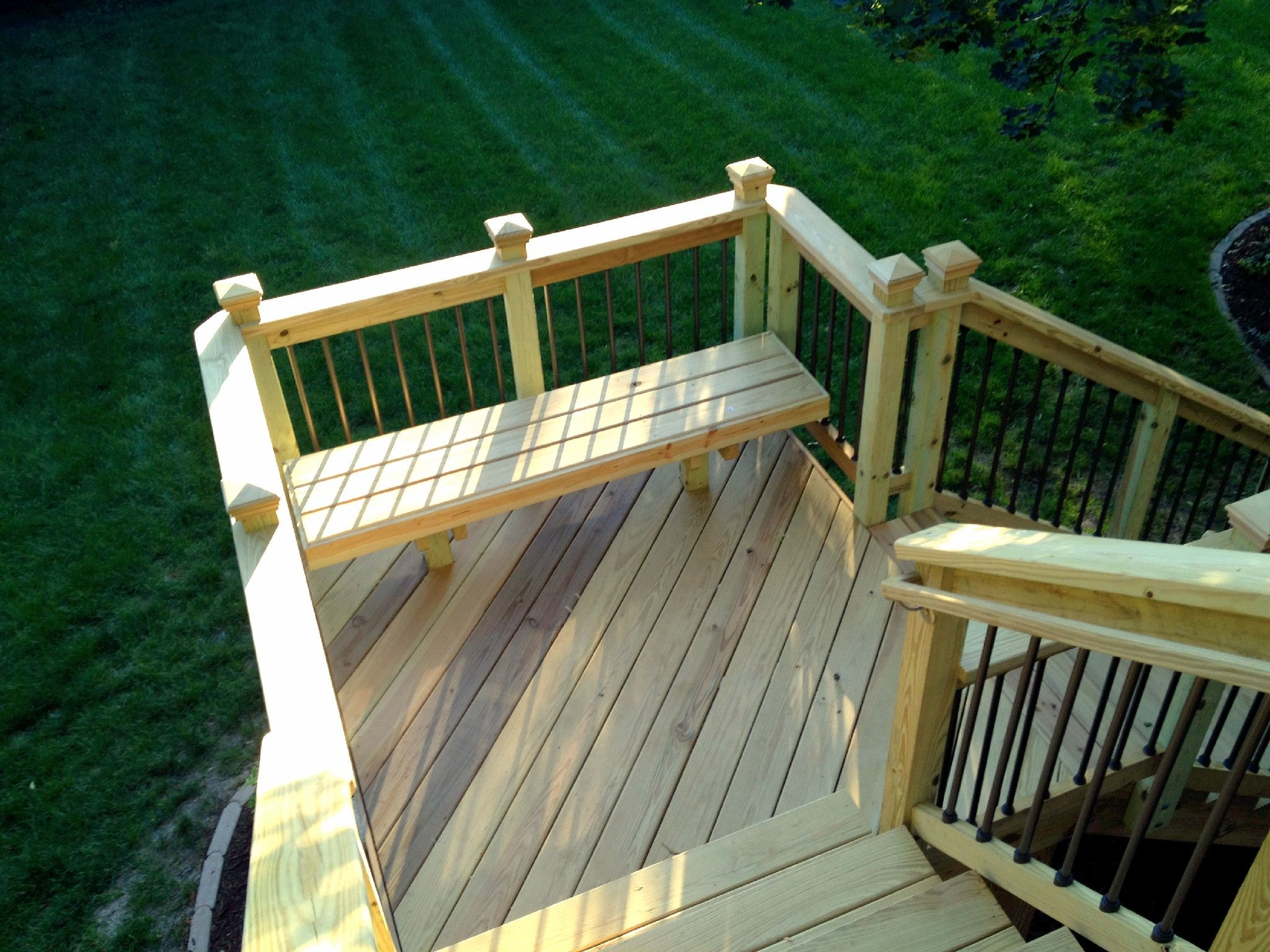 deck stair design with landing deck stair design deck trends step up your deck design with