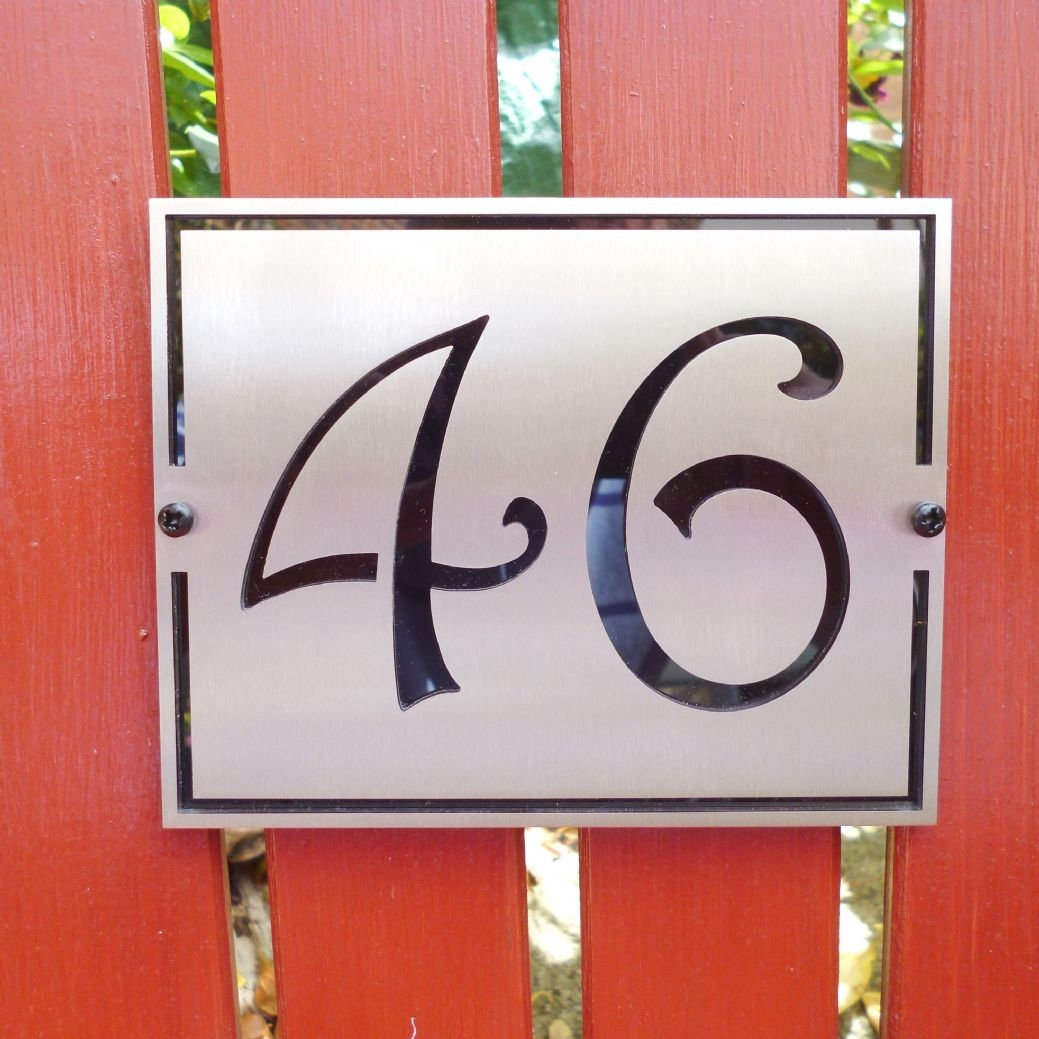neutra house numbers house numbers modern led signage apartment number  signs face brushed aluminum neutraface house