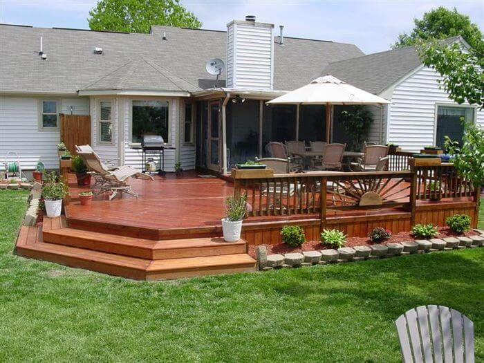 The deck can bring many wonderful feelings to your life