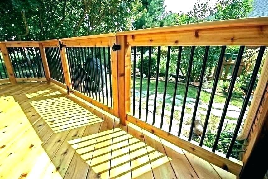 cheap deck railing ideas