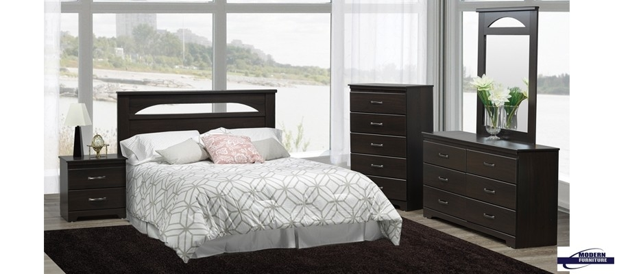 Washed Oak Queen Sleigh Bedroom Group A at NC Furniture Best Buys