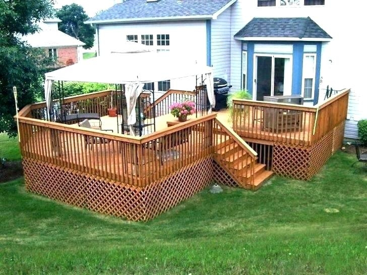 two level deck designs low deck design large high two level deck with  privacy screen and